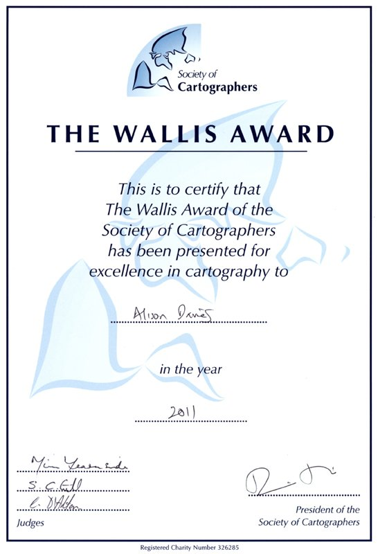 2011 Wallis Award of the Society of Cartographers for excellence in cartography