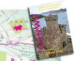 Conwy Town Centre Indexed Street Map